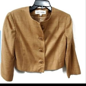 Sara Campbell Brown Silk Blazer Size 4